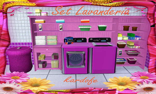 Sims 3 set, furniture, wash, set