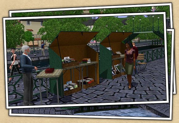 Sims 3 lot, commercial