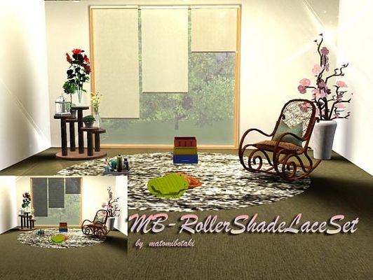 Sims 3 object, decor, curtain, set, roller